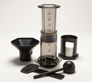 AeroPress Coffeemaker incl. Zubehör und 350 Microfilter